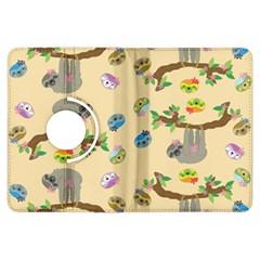 Sloth Tan Bg Kindle Fire HDX Flip 360 Case
