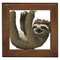 Sloth Hippie Framed Tiles