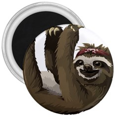 Sloth Hippie 3  Magnets
