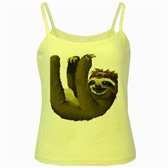 Sloth Hippie Yellow Spaghetti Tank