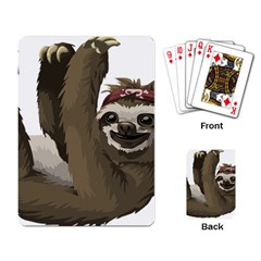 Sloth Hippie Playing Card