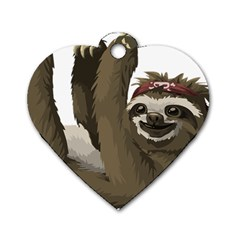 Sloth Hippie Dog Tag Heart (Two Sides)
