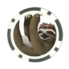 Sloth Hippie Poker Chip Card Guard (10 pack)