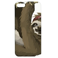 Sloth Hippie Apple iPhone 5 Hardshell Case with Stand