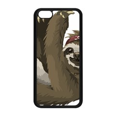 Sloth Hippie Apple iPhone 5C Seamless Case (Black)