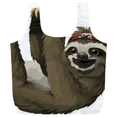 Sloth Hippie Full Print Recycle Bags (L)