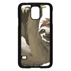 Sloth Hippie Samsung Galaxy S5 Case (Black)