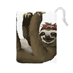 Sloth Hippie Drawstring Pouches (Large)