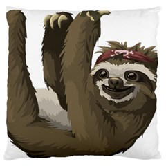 Sloth Hippie Large Flano Cushion Case (One Side)