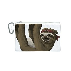 Sloth Hippie Canvas Cosmetic Bag (S)