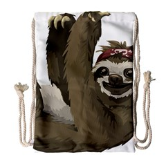 Sloth Hippie Drawstring Bag (Large)