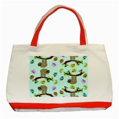 Sloth Blue Bg Classic Tote Bag (Red)