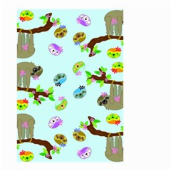 Sloth Blue Bg Small Garden Flag (Two Sides)