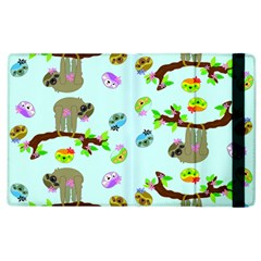 Sloth Blue Bg Apple iPad 3/4 Flip Case