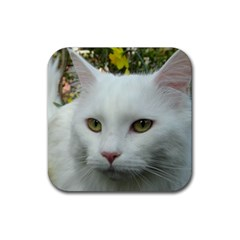 Maine Coon 4 Rubber Coaster (Square)