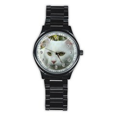 Maine Coon 4 Stainless Steel Round Watch