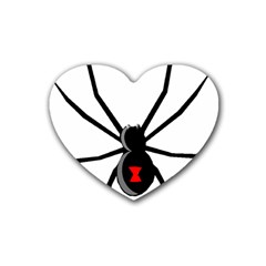 Black Widow cartoon Heart Coaster (4 pack)