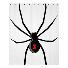 Black Widow cartoon Shower Curtain 60  x 72  (Medium)