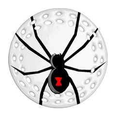 Black Widow cartoon Round Filigree Ornament (Two Sides)