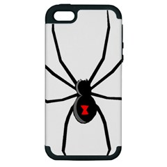 Black Widow cartoon Apple iPhone 5 Hardshell Case (PC+Silicone)