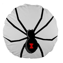 Black Widow cartoon Large 18  Premium Round Cushions