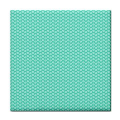 Tiffany Aqua Blue with White Lipstick Kisses Tile Coasters