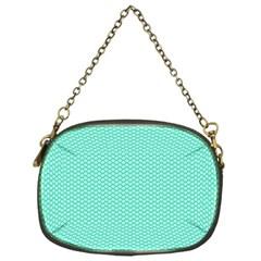 Tiffany Aqua Blue with White Lipstick Kisses Chain Purses (One Side)