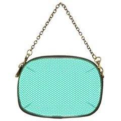 Tiffany Aqua Blue with White Lipstick Kisses Chain Purses (Two Sides)
