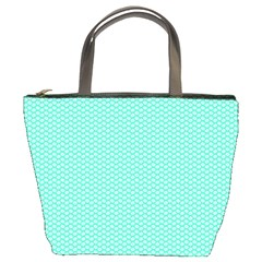 Tiffany Aqua Blue with White Lipstick Kisses Bucket Bags