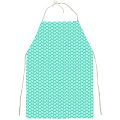 Tiffany Aqua Blue with White Lipstick Kisses Full Print Aprons
