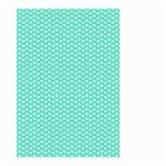 Tiffany Aqua Blue with White Lipstick Kisses Small Garden Flag (Two Sides)