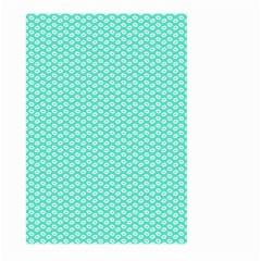 Tiffany Aqua Blue with White Lipstick Kisses Large Garden Flag (Two Sides)
