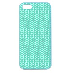 Tiffany Aqua Blue with White Lipstick Kisses Apple Seamless iPhone 5 Case (Color)