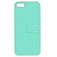 Tiffany Aqua Blue with White Lipstick Kisses Apple iPhone 5 Hardshell Case with Stand