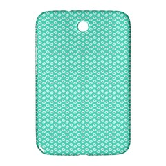 Tiffany Aqua Blue with White Lipstick Kisses Samsung Galaxy Note 8.0 N5100 Hardshell Case