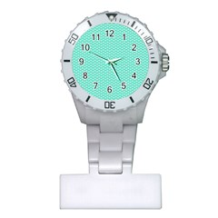 Tiffany Aqua Blue with White Lipstick Kisses Plastic Nurses Watch