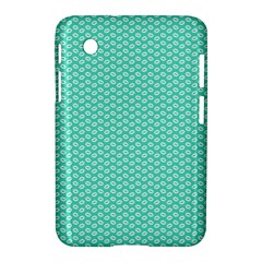Tiffany Aqua Blue with White Lipstick Kisses Samsung Galaxy Tab 2 (7 ) P3100 Hardshell Case