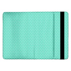 Tiffany Aqua Blue with White Lipstick Kisses Samsung Galaxy Tab Pro 12.2  Flip Case
