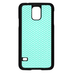 Tiffany Aqua Blue with White Lipstick Kisses Samsung Galaxy S5 Case (Black)