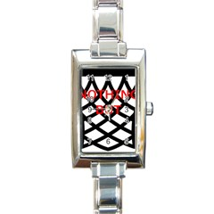 Nothing But Net Rectangle Italian Charm Watch
