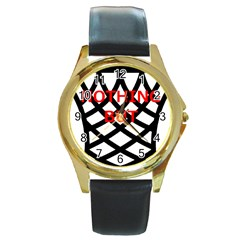 Nothing But Net Round Gold Metal Watch