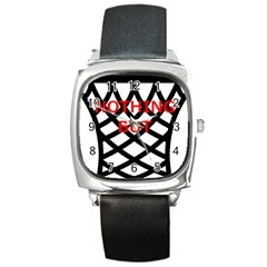 Nothing But Net Square Metal Watch