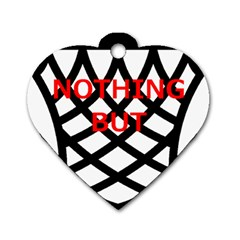 Nothing But Net Dog Tag Heart (Two Sides)