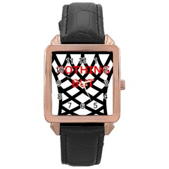 Nothing But Net Rose Gold Leather Watch