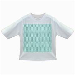 Tiffany Aqua Blue Lipstick Kisses on White Infant/Toddler T-Shirts