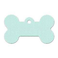 Tiffany Aqua Blue Lipstick Kisses On White Dog Tag Bone (two Sides)