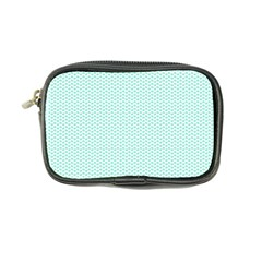 Tiffany Aqua Blue Lipstick Kisses on White Coin Purse