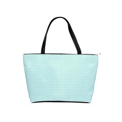 Tiffany Aqua Blue Lipstick Kisses on White Shoulder Handbags