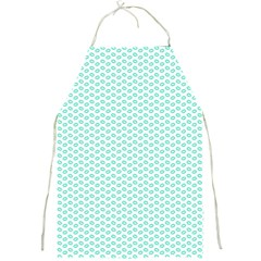 Tiffany Aqua Blue Lipstick Kisses on White Full Print Aprons