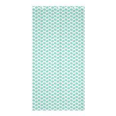 Tiffany Aqua Blue Lipstick Kisses on White Shower Curtain 36  x 72  (Stall)
